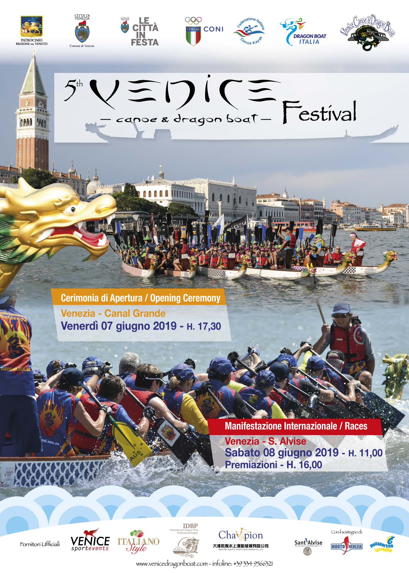 5th ed Venice International Dragon Boat Festival